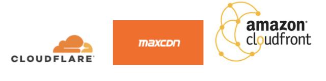 CDN Companies - Cloudflare, MaxCDN, Amazon Cloudfront