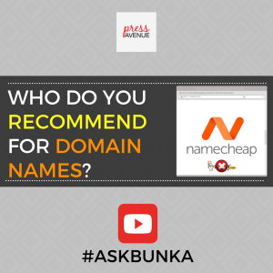 Who Do You Recommend for Domain Names? #AskBunka Episode 19 - Instagram