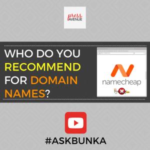 Who Do You Recommend for Domain Names? #AskBunka Episode 19 - Instagram