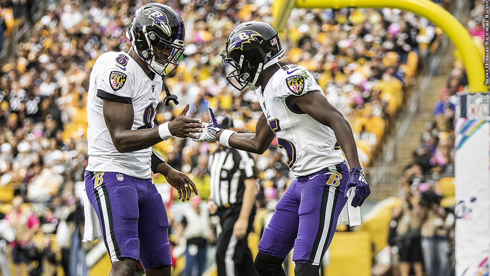 ravens lamar jackson and marquise brown