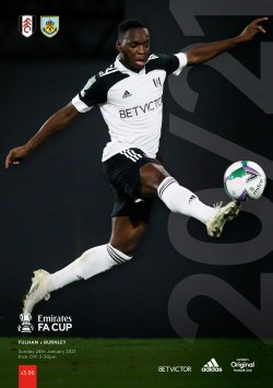 Fulham v Burnley FA Cup Official programme