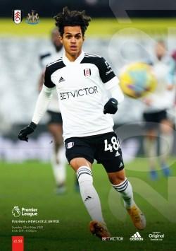 Fulham v Newcastle United programme cover