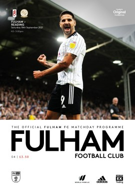 Fulham v Reading official match-day programme
