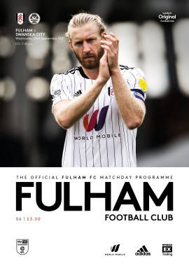 Fulham v Swansea City matchday programme cover