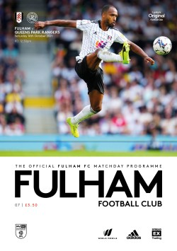Fulham v QPR Official matchday programme cover