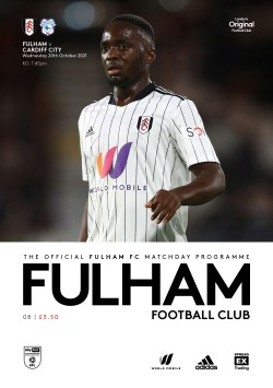 Fulham v Cardiff Official Programme cover