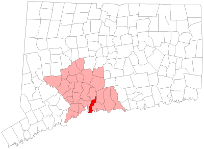 Location of East Haven in New Haven County, Connecticut