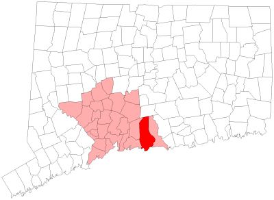 Location of Guilford in New Haven County, Connecticut