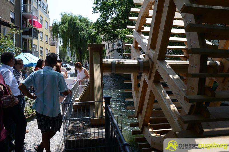 Schön sieht es aus: Das neue Wasserrad am Schwallech | Foto: Wolfgang Czech