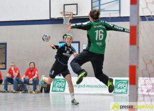 170408_TSVH_THI_007 Ein großer Wurf | TSV Haunstetten Handball sichert sich wichtige Punkte im Abstiegskampf Augsburg Stadt Handball News News Sport FSG Mainz 05/Budenheim TSV Haunstetten Handball |Presse Augsburg