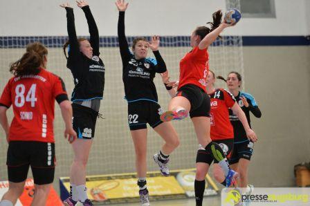 170408_TSVH_THI_011 Ein großer Wurf | TSV Haunstetten Handball sichert sich wichtige Punkte im Abstiegskampf Augsburg Stadt Handball News News Sport FSG Mainz 05/Budenheim TSV Haunstetten Handball |Presse Augsburg