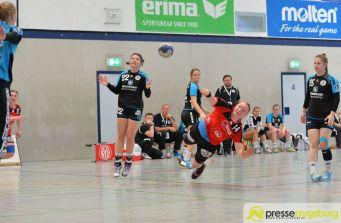 170408_TSVH_THI_014 Ein großer Wurf | TSV Haunstetten Handball sichert sich wichtige Punkte im Abstiegskampf Augsburg Stadt Handball News News Sport FSG Mainz 05/Budenheim TSV Haunstetten Handball |Presse Augsburg
