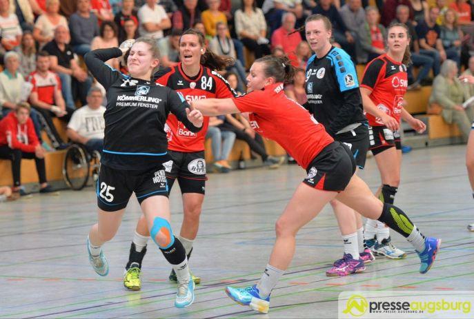 170408_TSVH_THI_028 Ein großer Wurf | TSV Haunstetten Handball sichert sich wichtige Punkte im Abstiegskampf Augsburg Stadt Handball News News Sport FSG Mainz 05/Budenheim TSV Haunstetten Handball |Presse Augsburg