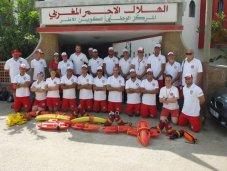 Ein Spitzenteam: Das Deutsch-Marokkanische Team mit den beiden Mitgliedern der Wasserwacht Steppach Magdalena Zehendner und Michael Stegmüller.