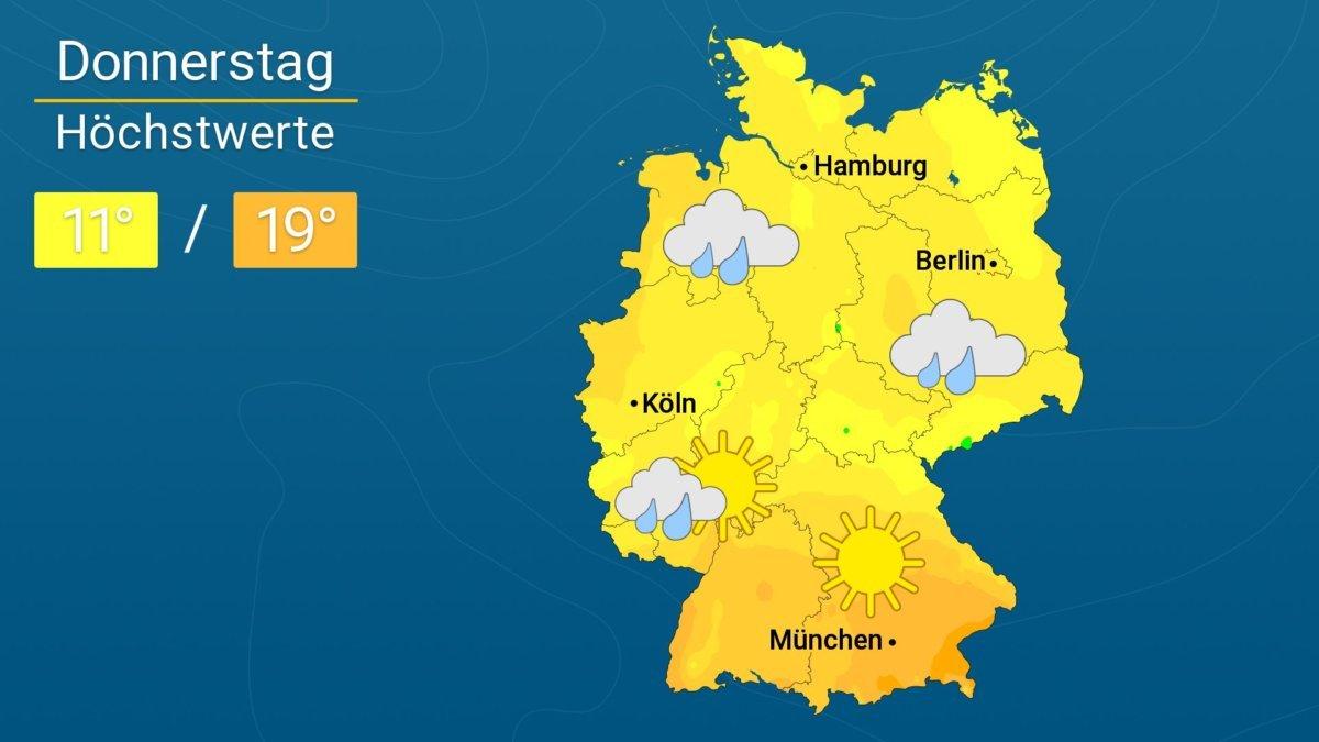 Mix aus Wolken und Sonne | Das Wetter für Augsburg und ...