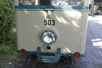 Tag der offenen Tür im Depot des Vereins Freunde der Augsburger Straßenbahn. Außerdem Jubiläum 70 Jahre Kriegsstraßenbahnwagen (KSW) und 50 Jahre Gelenktriebwagen 5 (GT5) Nr. 535