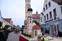Die Leonhards-Kirche von Inchenhofen als Motivwagen | Foto: Dominik Mesch