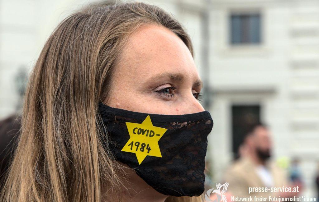 Wien: Kundgebung gegen die Corona-Maßnahmen der Regierung (14.05.2020)