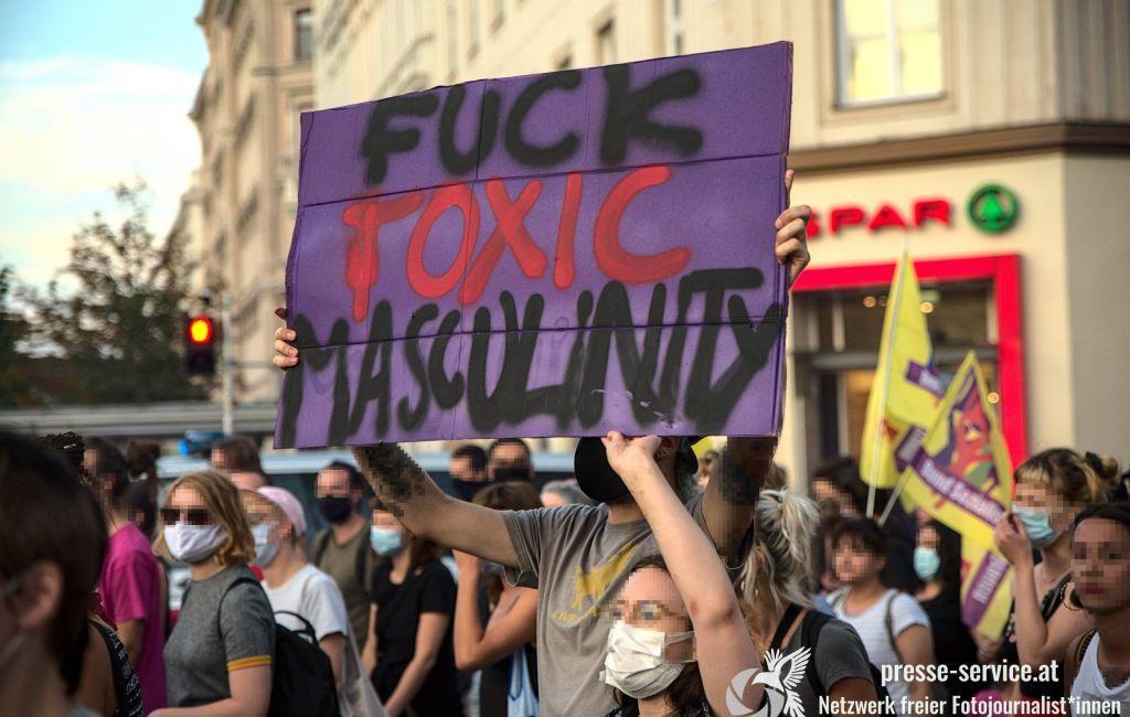 Wien: Demonstration gegen Femizide und Männergewalt (29.07.2020)