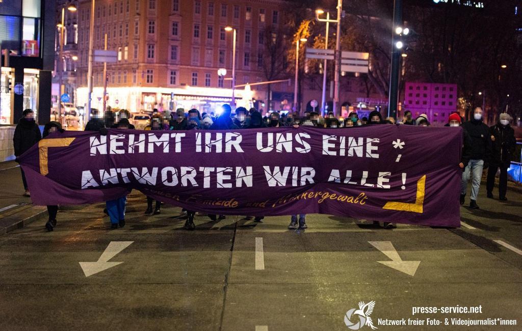 Wien: Demonstration gegen Femizide und Männergewalt (30.12.2020)
