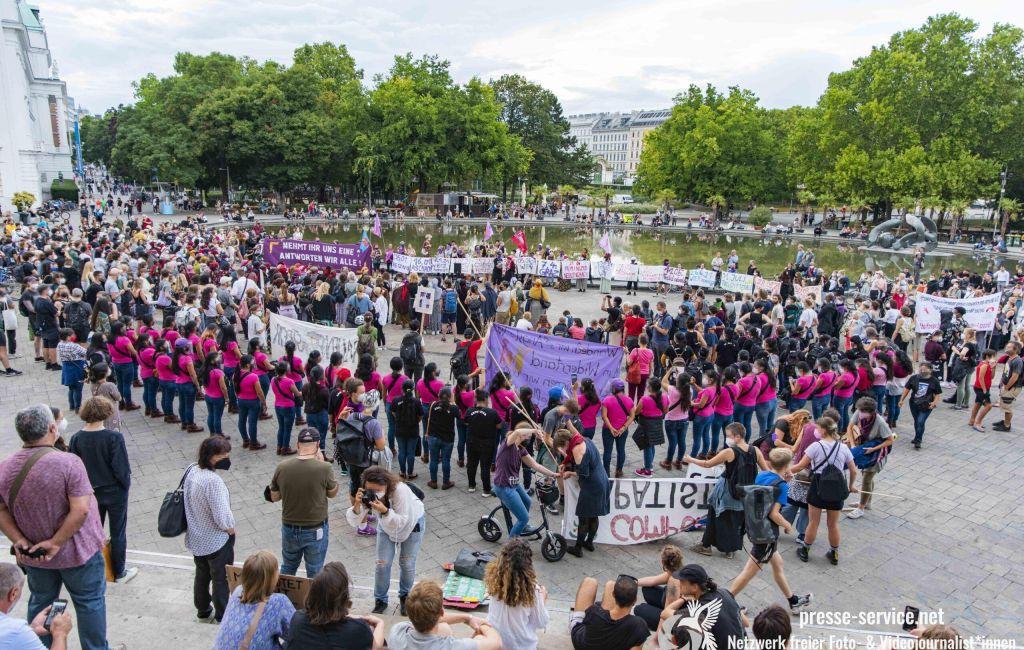 Wien: Demonstrationen gegen Femizide und Männergewalt (14. & 16.09.2021)