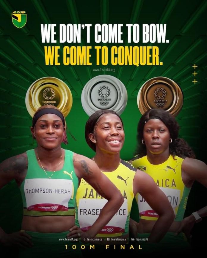 JEUX OLYMPIQUES À TOKYO : Triplé féminin de la Jamaïque sur l'épreuve reine le 100 m !
