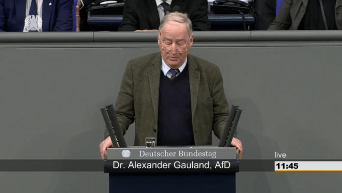 """#AfD #Bundestagsrede von Dr. Gauland zu 55 Jahre Elysee-Vertrag! Quelle """"Deutscher Bundestag"""""""