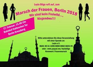 Marsch der Frauen, Berlin 2018, Wir sind kein Freiwild..., Nirgendwo!