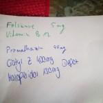 Medikamenten-Liste von Michael Perez