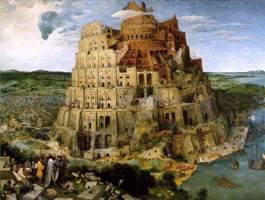 Turmbau zu Babel, gemalt von Pieter Brueghel sen.