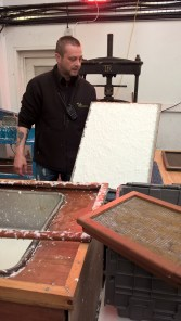 Wet sheet upon the mould