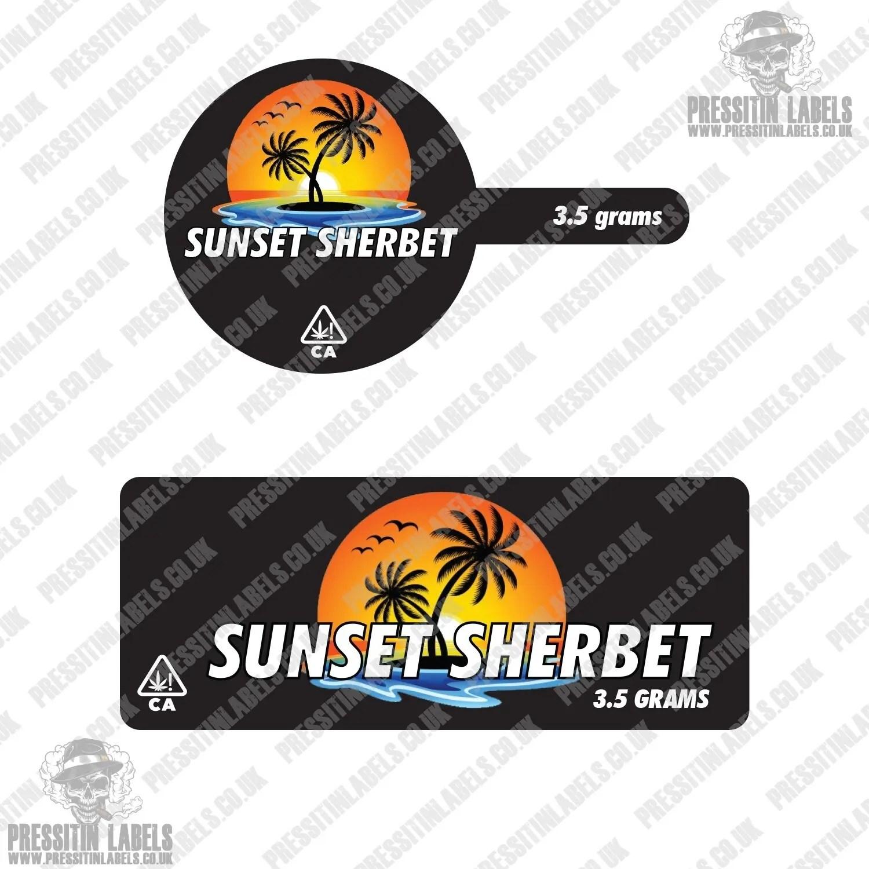 Sunset Sherbet 60ml Glass Jar Tamper Proof Labels