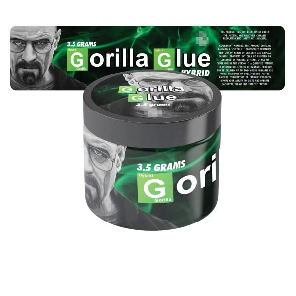 Gorilla Glue Jar Labels BB