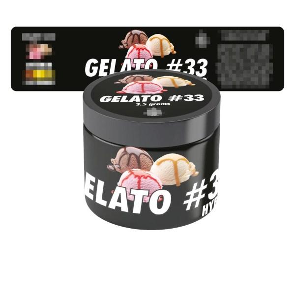 Gelato 33 Jar Labels