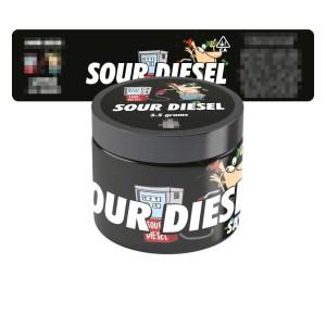 Sour Diesel Jar Labels