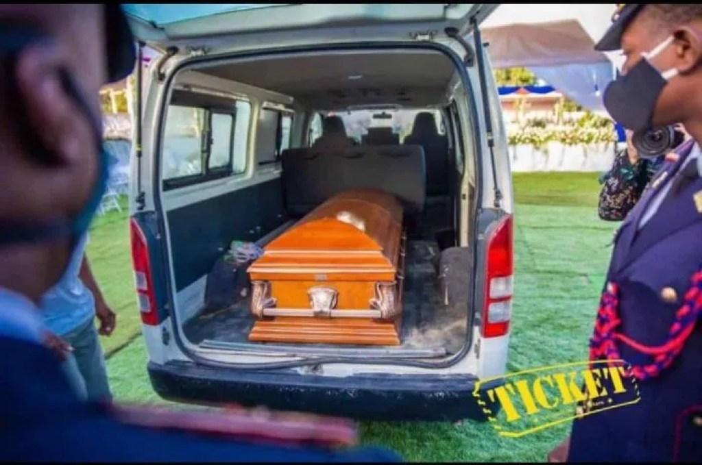Dépouille mortelle de l'ancien président de la République, Jovenel Moïse