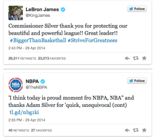 NBA community reacts on twitter to Adam Silver announcement
