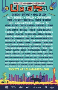 2014 Lollapalooza headliners and lineup released