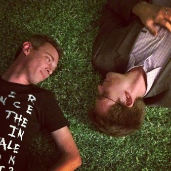 John Green, Author of #1 best-selling novel The Fault In Our Stars, posts on Instagram a photo of him and Director Josh Boone recreating the movie's poster. The fault in our stars new clip.