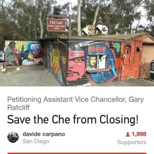 Save the Che from Closing petition is going around campus