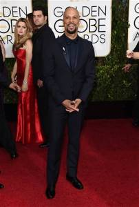 Actor and rapper Common looked handsome at the 2015 Golden Globes.