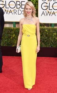 Naomi Watts was among the best dressed of the night at the Golden Globes 2015.