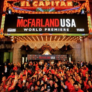 Colombian superstar Juanes attends the world premiere of McFarland USA.
