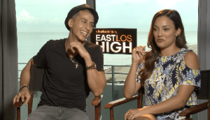 Actors Carlito Olivero and Alexandra Rodriguez open up to Press Pass Latino about their roles in Hulu's East Los High 3.