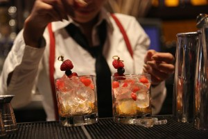 Farm fresh speakeasy-inspired cocktails like the Afternoon Delight will make date night at iPic Theaters sweeter. (Photo courtesy of The Gap Group).