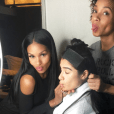 Mila Thomas was part of actress Diane Guerrero's glam squad for the 2016 Screen Actor's Guild Awards.