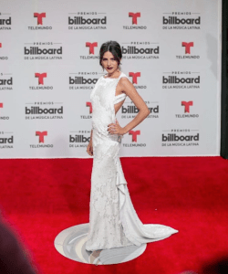 Shantall Lacayo looks stunning at the red carpet at the Latin Billboards Awards 2016.