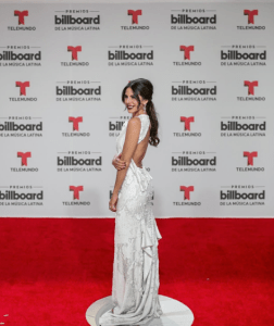 Nicaraguan fashion designer Shantall Lacayo wired a dress of her own design to the Latin Billboards 2016.