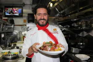 Javier Florez is the chef at Aromas del Peru