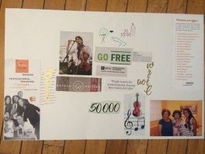 Vision Boards are easy to make as an arts and crafts project.